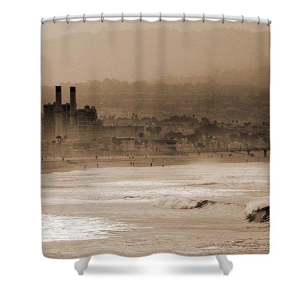Old Hermosa Beach Shower Curtain