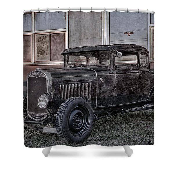 Old Hot Rod Shower Curtain