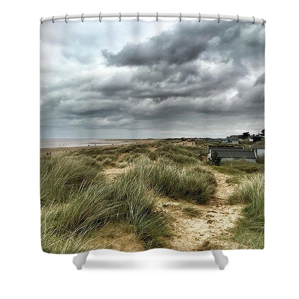 Old Hunstanton Beach, North #norfolk Shower Curtain