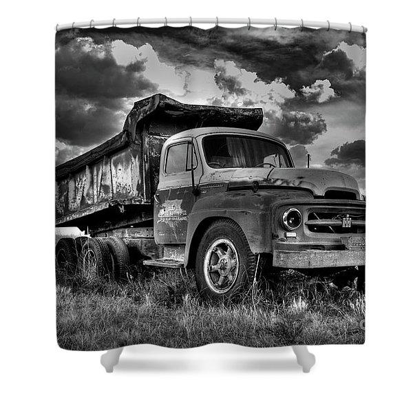 Old International #2 - Bw Shower Curtain