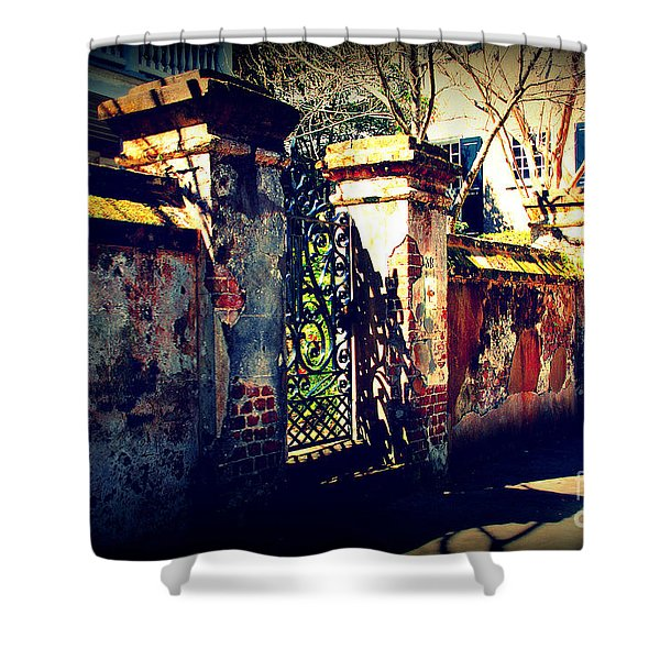 Old Iron Gate In Charleston Sc Shower Curtain