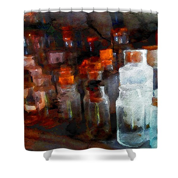 Old Jars Shower Curtain