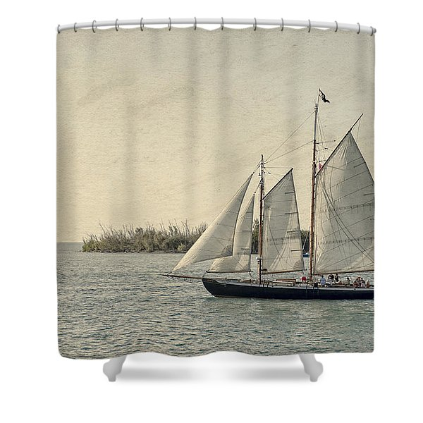 Old Key West Sailing Shower Curtain