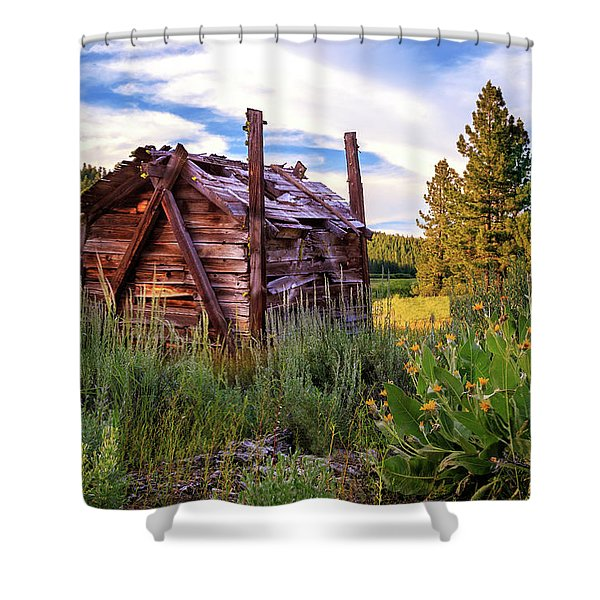 Old Lumber Mill Cabin Shower Curtain
