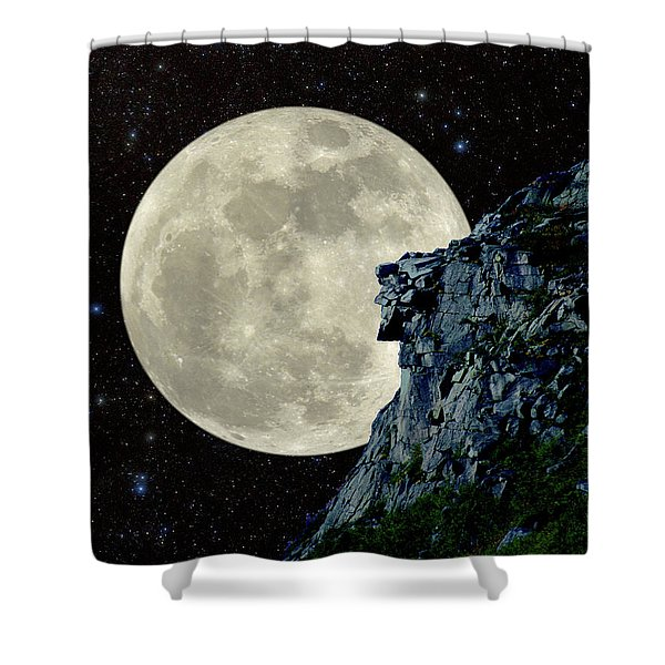 Old Man / Man In The Moon Shower Curtain