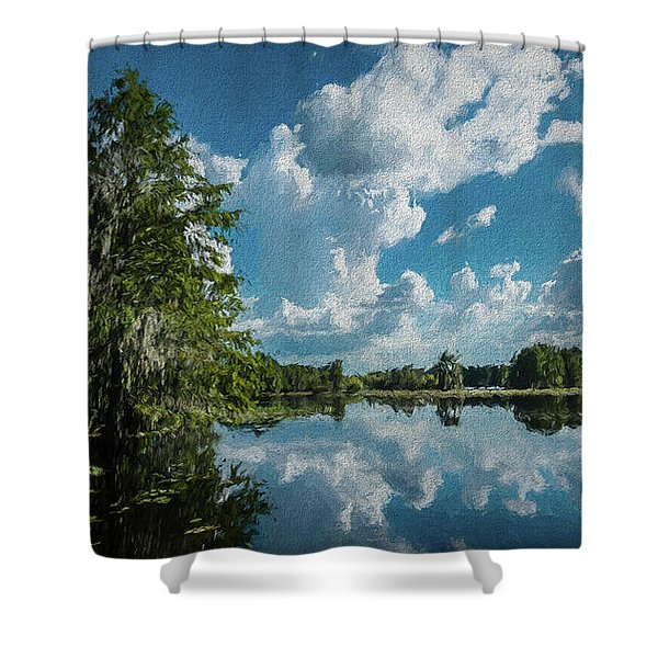 Old Man River Shower Curtain