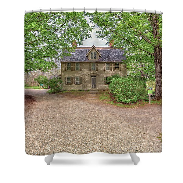 Old Manse Concord, Massachusetts Shower Curtain