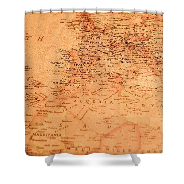 Old Maritime Map Shower Curtain