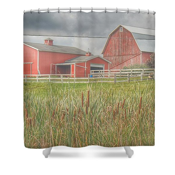 0033 - Old Meets New Shower Curtain
