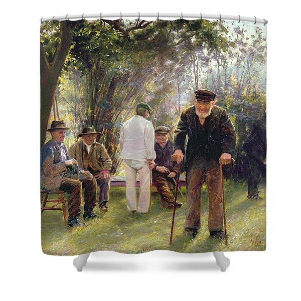 Old Men In Rockingham Park Shower Curtain