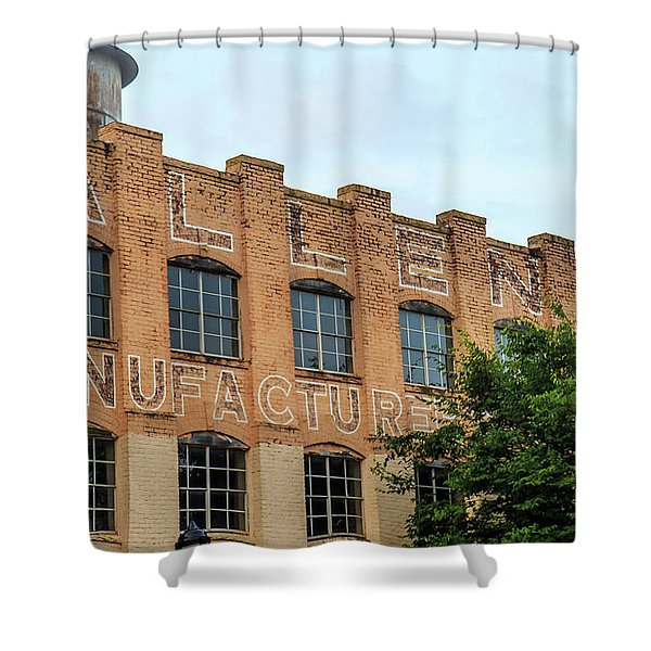Old Mill Building In Buford Shower Curtain