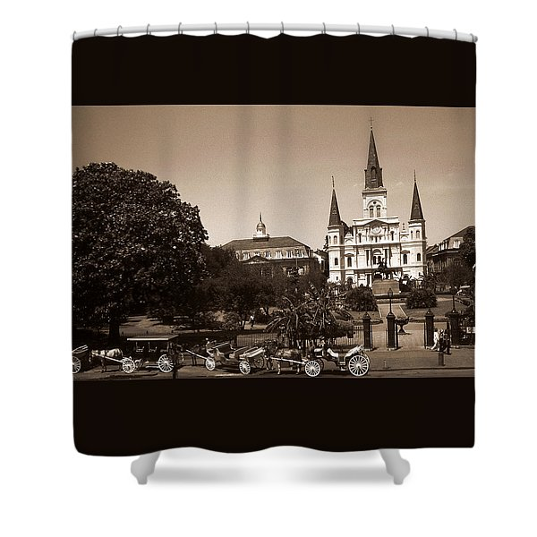 Old New Orleans Photo - Saint Louis Cathedral Shower Curtain