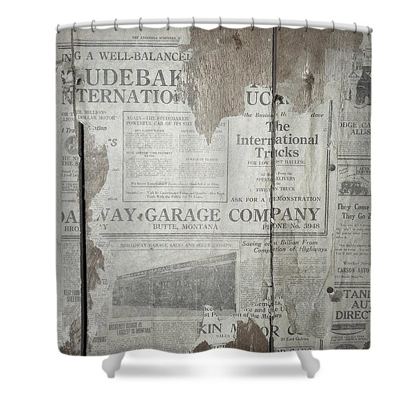 Old News Shower Curtain