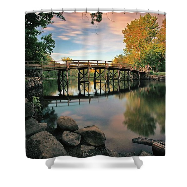 Old North Bridge Shower Curtain
