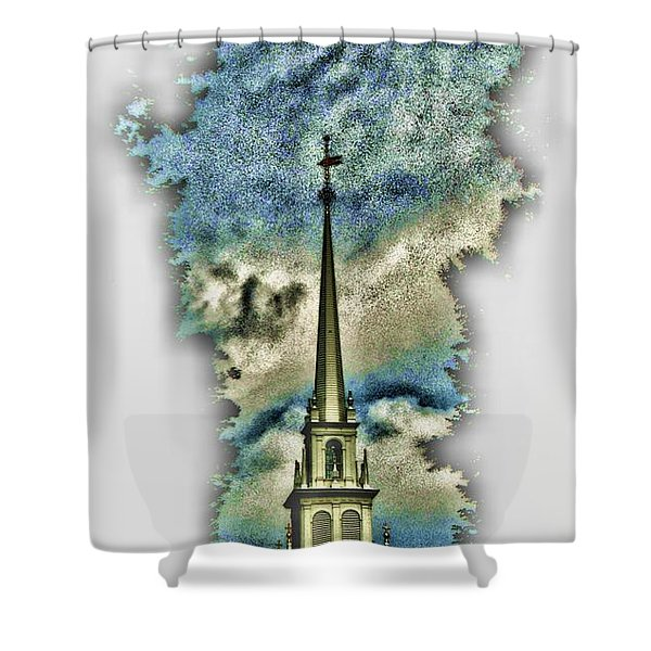 Old North Church Steeple Shower Curtain