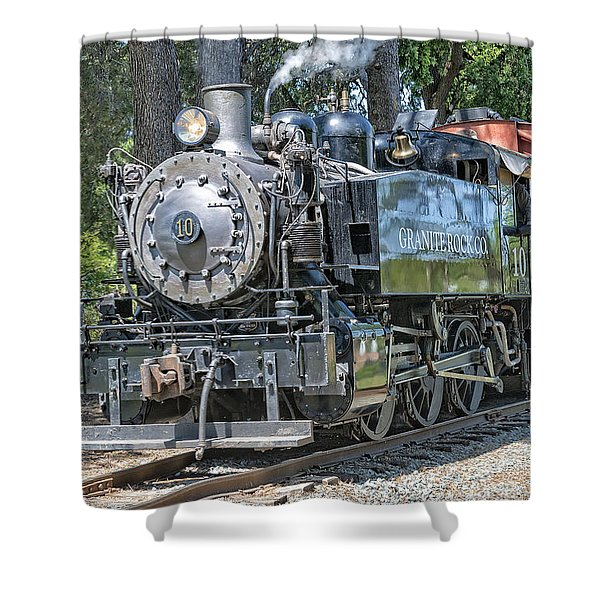 Shower Curtain featuring the photograph Old Number 10 by Jim Thompson