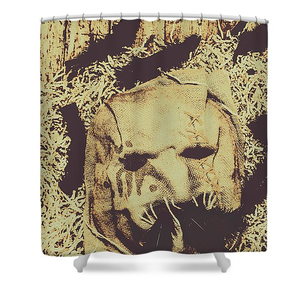 Old Outback Horrors Shower Curtain
