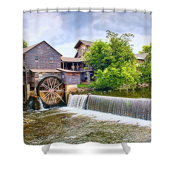 Old Pigeon Forge Mill Shower Curtain