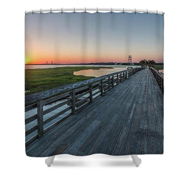 Old Pitt Street Bridge  Shower Curtain