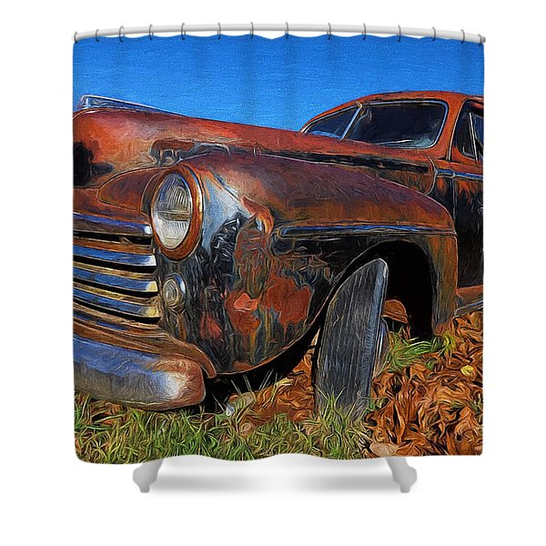 Old Police Car Shower Curtain