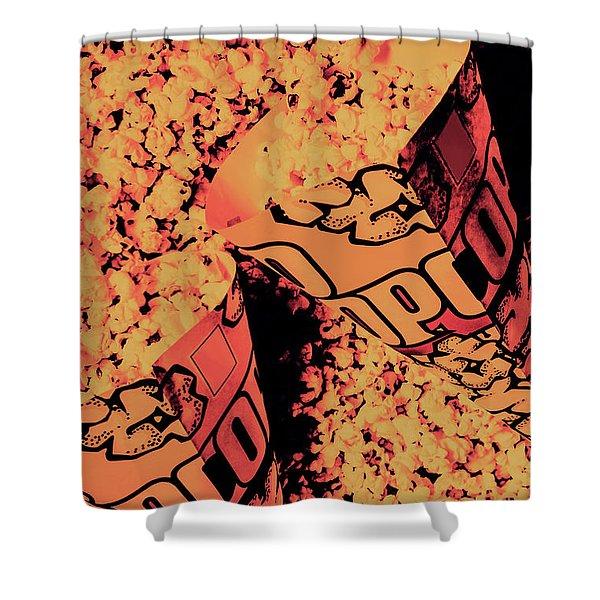 Old Pop Corn Culture Shower Curtain
