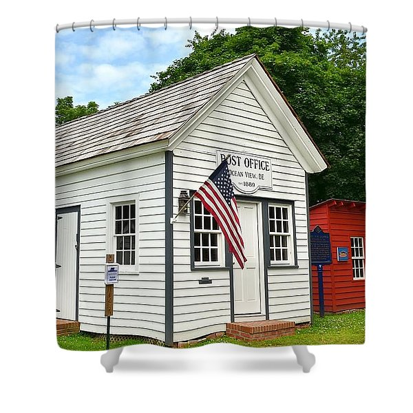Old Post Office - Ocean View Delaware Shower Curtain