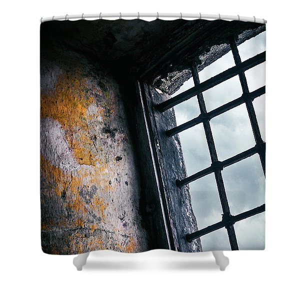 Old Prison Cell Window Shower Curtain