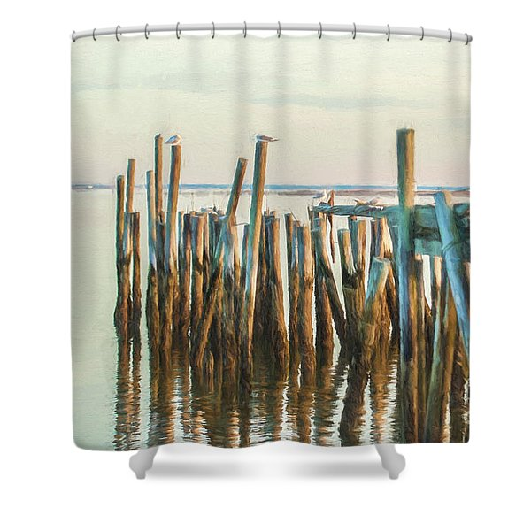 Old Provincetown Wharf Shower Curtain