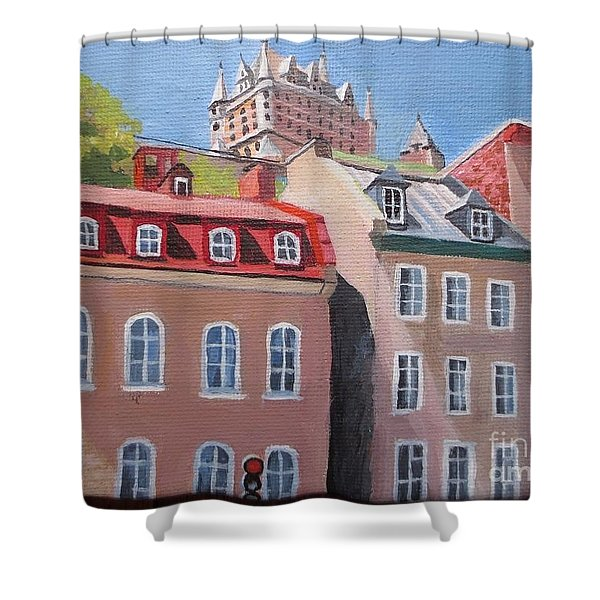 Old Quebec City Shower Curtain
