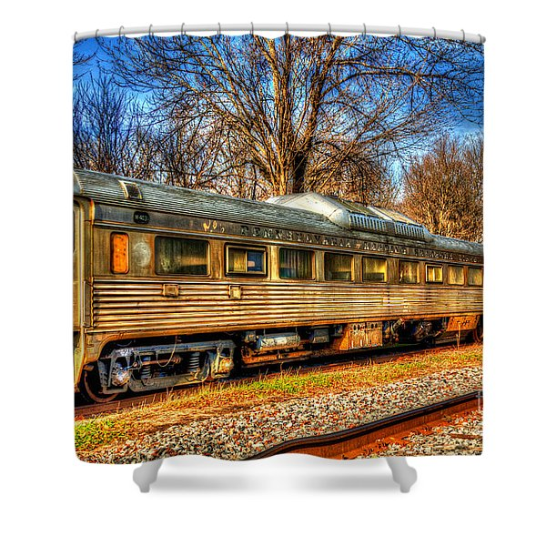 Old Rail Car Shower Curtain