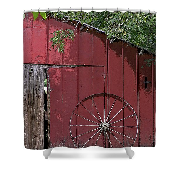 Old Red Barn Shower Curtain