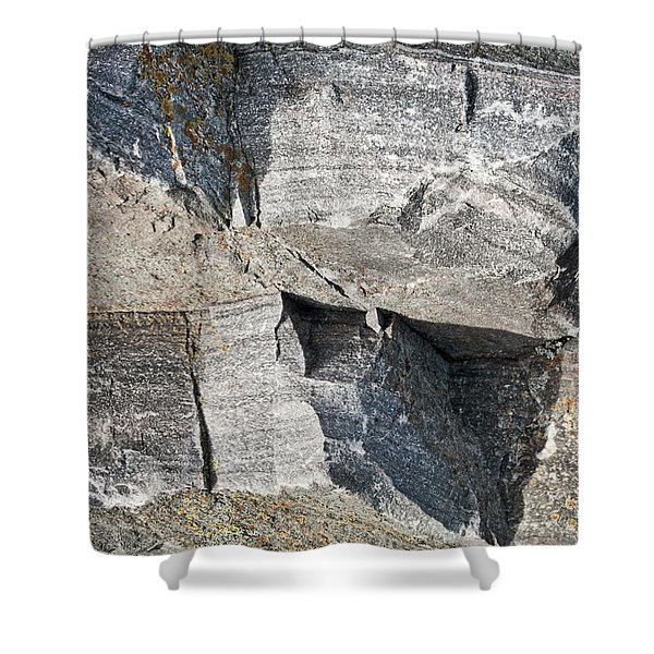 Old Rock Background Shower Curtain