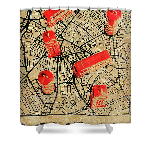 Old Routemaster Way Shower Curtain