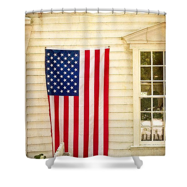 Old Rugged Field Flag Shower Curtain