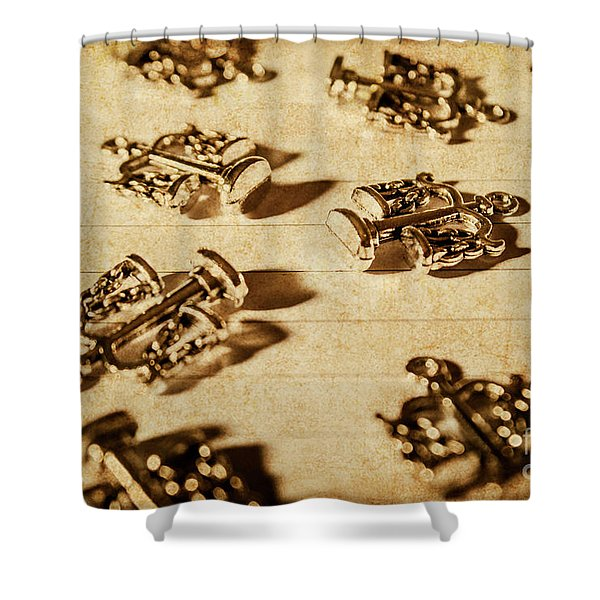 Old Rule Of Law Shower Curtain