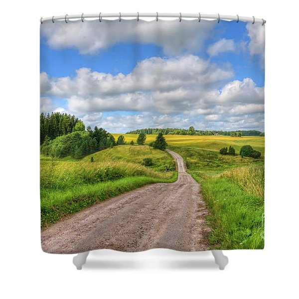 Old Rural Road Shower Curtain