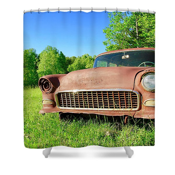 Old Rusty Car Shower Curtain