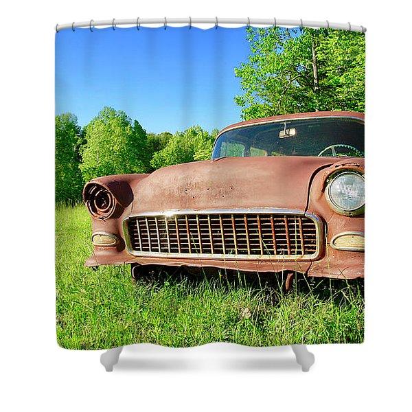 Old Rusty Car Shower Curtain