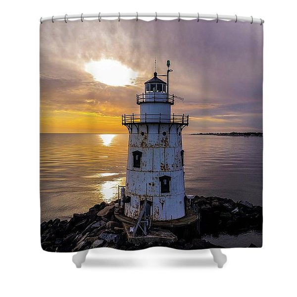 Old Saybrook Outer Light Shower Curtain