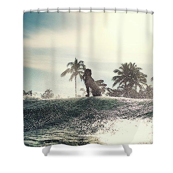 Old School Shower Curtain