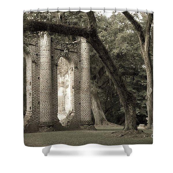 Old Sheldon Church Shower Curtain