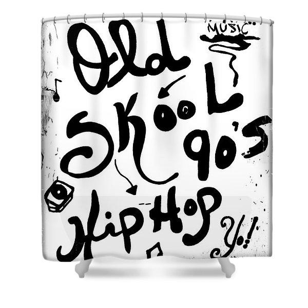 Old-skool 90's Hip-hop Shower Curtain