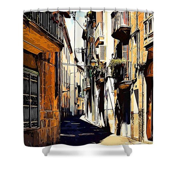 Old Spanish Street Shower Curtain