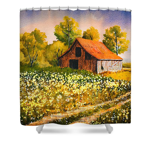 Old Spring Farm Shower Curtain