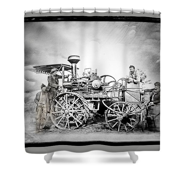Old Steam Tractor Shower Curtain