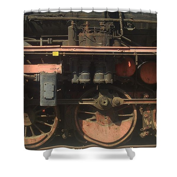 Old  Steam Train ...france Shower Curtain
