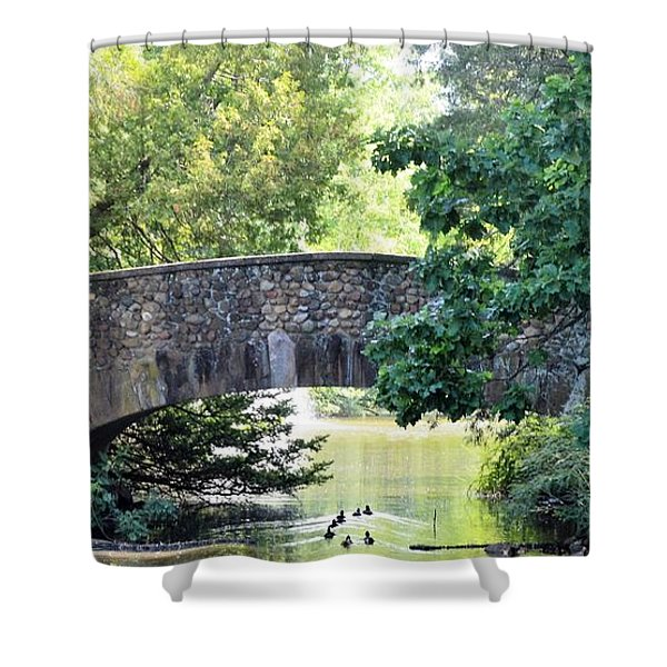 Old Stone Walkway Shower Curtain