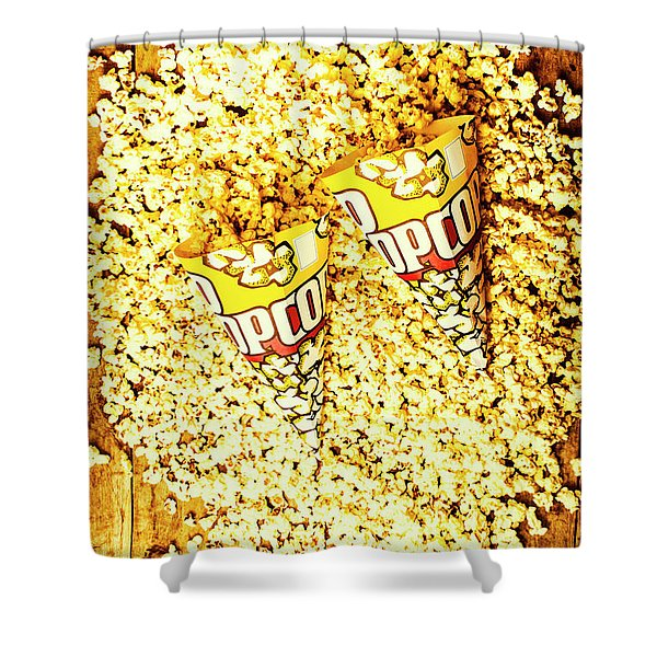 Old Style Popcorn Cones  Shower Curtain