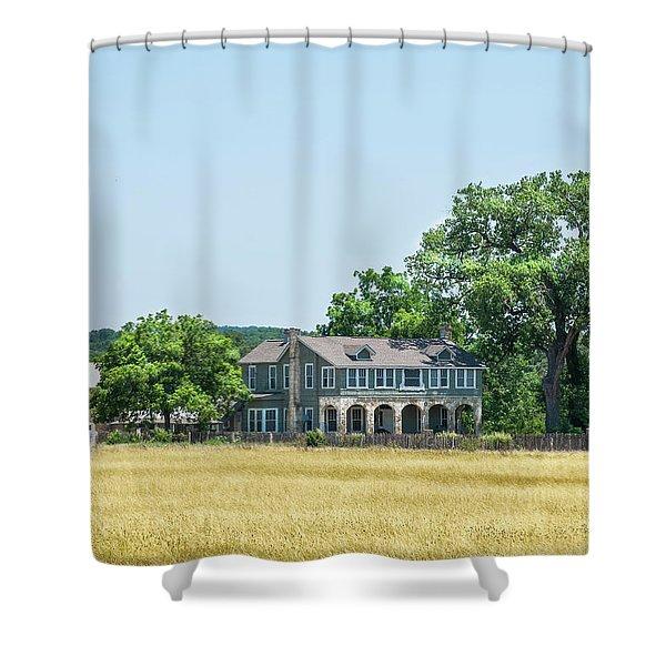 Old Texas Farm House Shower Curtain