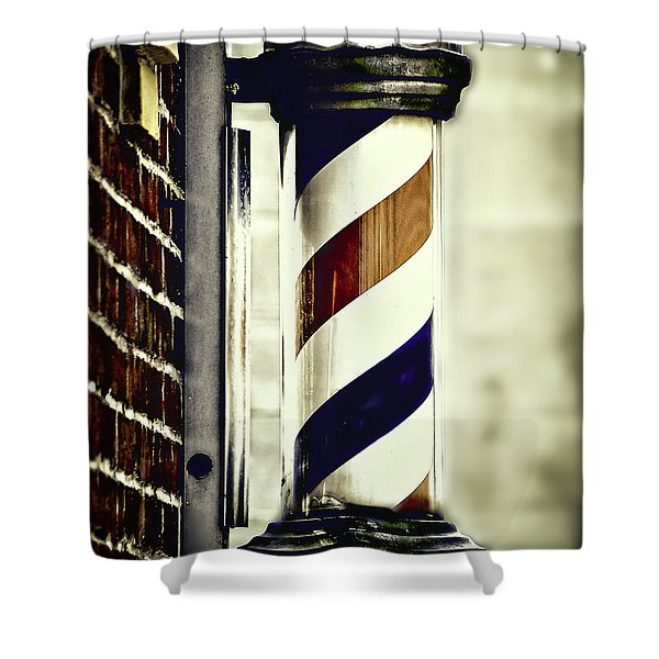 Old Time Barber Pole Shower Curtain